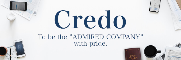 Credo to be the ADMIRED COMPANY with pride.